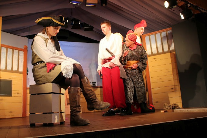 Polly the Pirate with trussed up Sinbad Zanzibar and the geni Abu  sc 1 st  Cubbington Players & Sinbad the Sailor (Archive) u2013 Cubbington Players